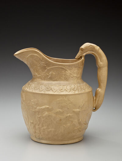 Unknown Artist, 'Hound-handled pitcher; American Pottery Company, Jersey City', 1840