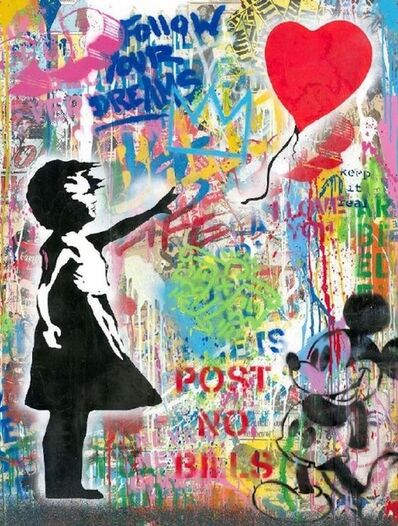 Mr. Brainwash, 'Balloon Girl (with Mickey)', 2020