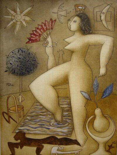 Victor Pedra, 'Manola y piscina', 2018