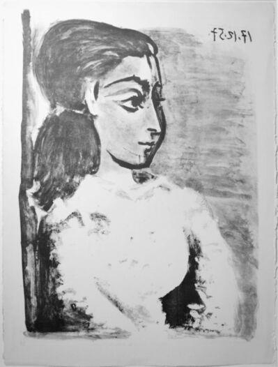 Pablo Picasso, 'Buste de Femme au Corsage blanc (Jacqueline de profil)', 17.12.1957