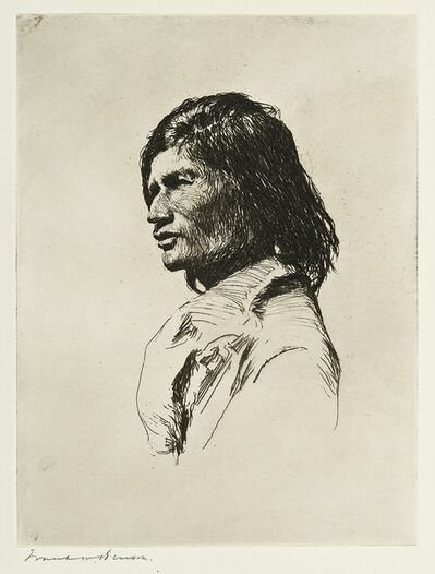 Frank Weston Benson, 'NASCANPEE INDIAN', 1921