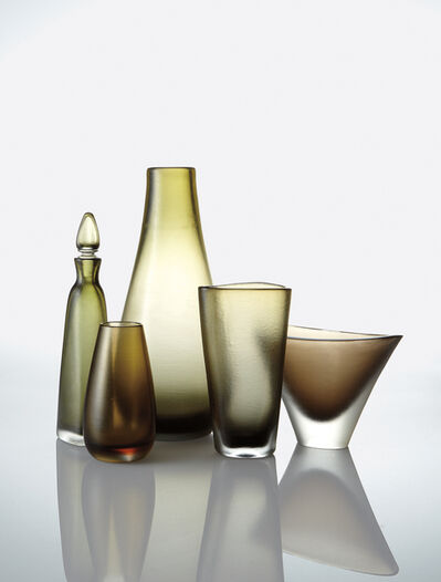 Venini, 'Four vases and a decanter', 1946-1966
