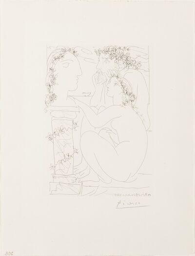 Pablo Picasso, 'Sculpteur et Modele Admirant Une Tete Sculptee', 1933