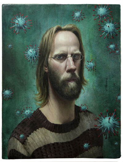Stuart Pearson Wright, 'Self Portrait with Lockdown Hair', 2020