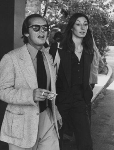 Ron Galella, 'Jack Nicholson and Anjelica Huston, Beverly Hills Hotel', 1977