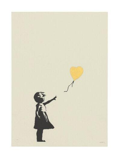 Banksy, 'Girl with Balloon Colour AP (Gold)', 2004