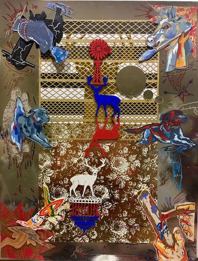 Ciro Quintana, ' The Wonder of Cuban Art I  (original mixed media on mirror -paper) ', 2019
