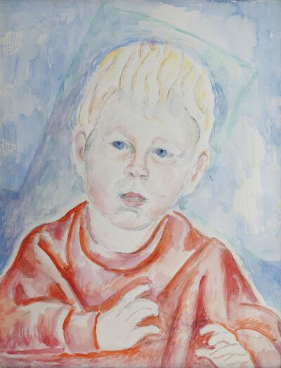 Marie Vorobieff Marevna, 'Young boy in red top, head and shoulders', c.1953