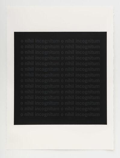 Carl Trahan, 'O nihil incognitum', 2020