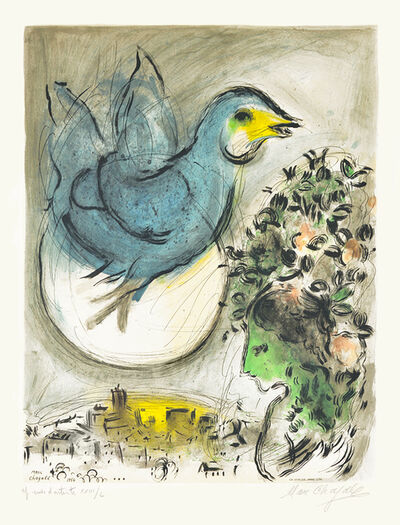 Marc Chagall, 'L'oiseau bleu (The Blue Bird)', 1968