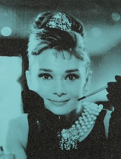 Russell Young, 'Audrey Hepburn, NEW YORK TIFFANY BLUE', 2018