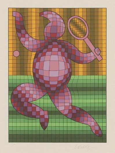 Victor Vasarely, 'Tennis Pink', 1977