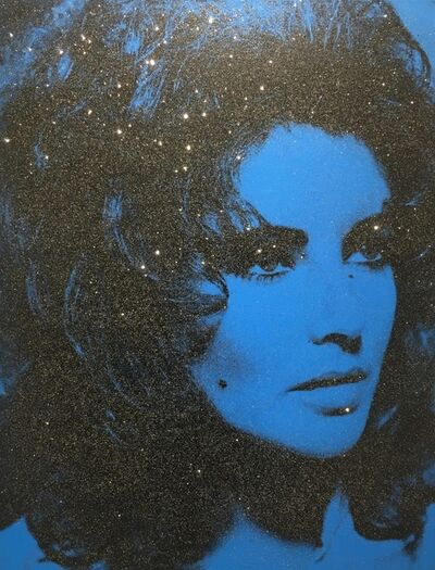 Russell Young, 'Liz Taylor - Mediterranean Blue & Black', 2014