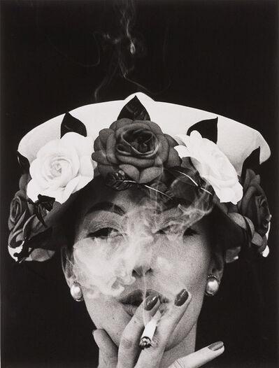 William Klein, 'Hat + 5 Roses, Paris (Vogue)', 1956