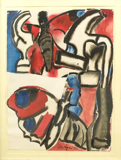 Grace Hartigan, 'Broken Hammer with Butterfly', 1972