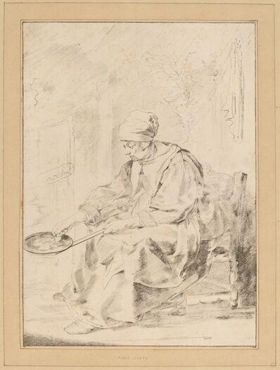 Cornelis Ploos van Amstel and Johannes Kornlein after Gabriel Metsu, 'Pancake Woman', 1768