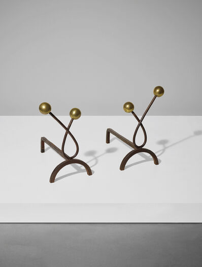 Jean Royère, 'Pair of 'Boules' andirons', circa 1950