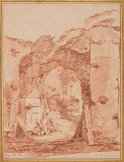 Jean-Honoré Fragonard, 'The Hermit's Court in the Colosseum', 1758
