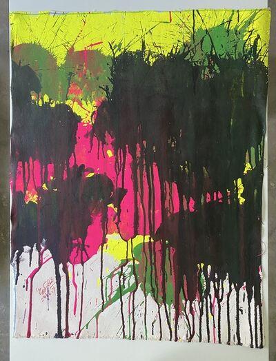 Ushio Shinohara, 'Magenta, Green and Black on Yellow ', 2016
