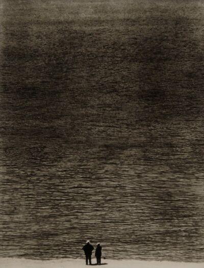 Ralph Steiner, 'Two Men at the Ocean', 1921