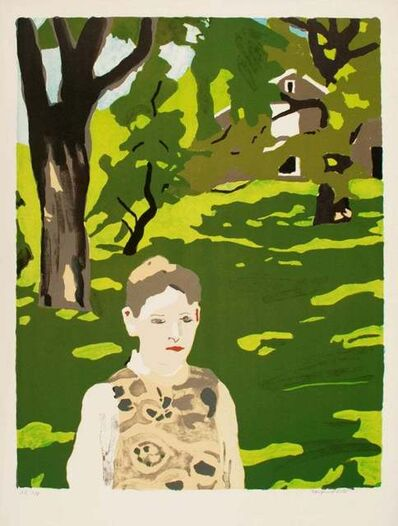 Fairfield Porter, 'Girl in the Woods', 1971