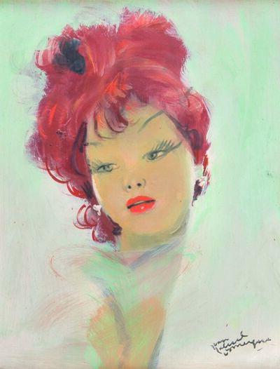 Jean Gabriel Domergue, 'Elégante rousse'