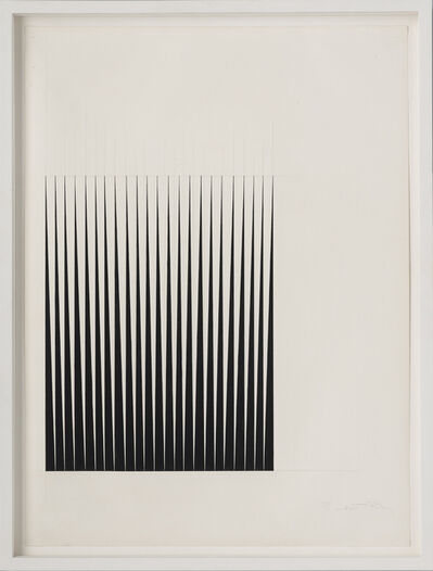Bridget Riley, 'Study for Breathe', 1966