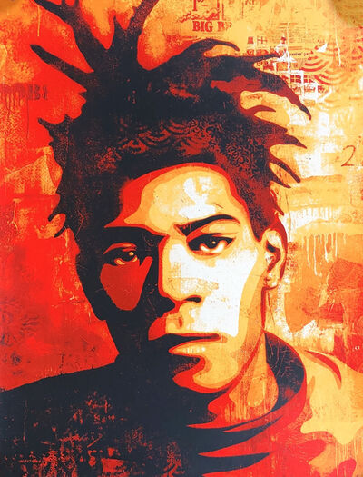 Shepard Fairey, 'Shepard Fairey Basquiat screenprint', 2010