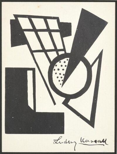 Lajos Kassák, 'The Black Triangle', 1921