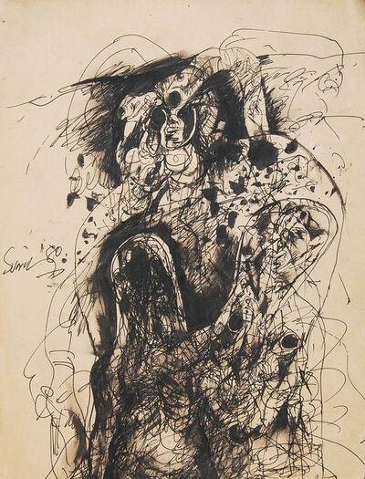 "Sunil Das, 'Watercolour Pen and Ink on Paper by Padma Shree Artist Sunil Das ""In Stock""', 1980"