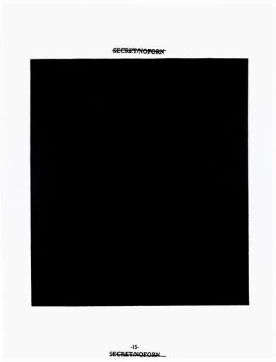 Jenny Holzer, 'Black - 15', 2008