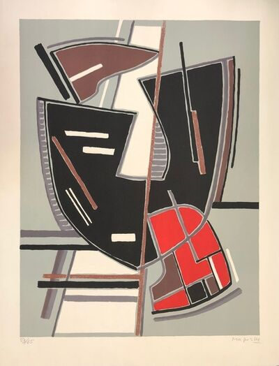 Alberto Magnelli, 'Abstract Composition with Red', 1965