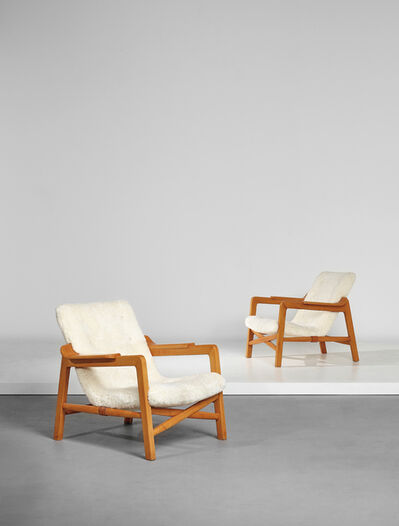 Edvard and Tove Kindt-Larsen, 'Pair of 'Fireplace' armchairs', ca. 1939