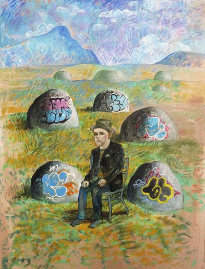 Noah Becker, 'Graffiti Rock Mountain', 2020