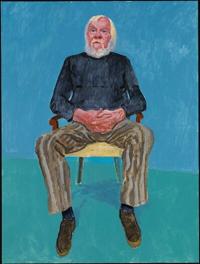 "David Hockney, '""John Baldessari, 13th, 16th December 2013"" from ""82 Portraits and  1 Still-Life""', 2013"