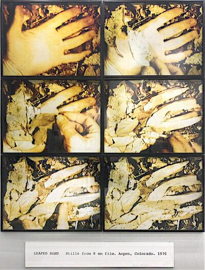 Dennis Oppenheim, 'Leafed hands ', 1970