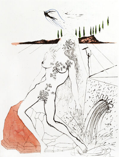 Salvador Dalí, 'Apollinaire - Woman at the Fountain', 1967