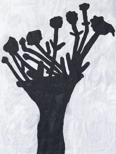 Donald Baechler, 'Black Flower Redux #5', 2011