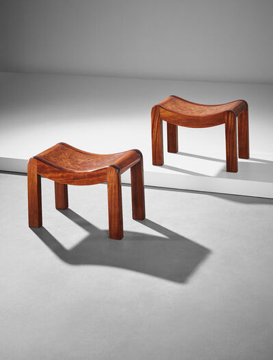 Pierre Chareau, 'Pair of stools, model no. SN1', ca. 1920