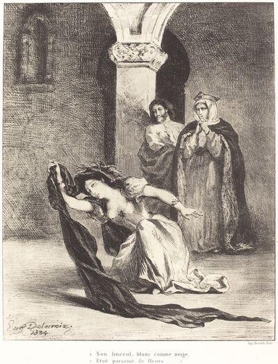 Eugène Delacroix, 'The Song of Ophelia (Act IV, Scene V)', 1834