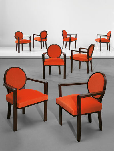 Jean Royère, 'Set of eight armchairs', ca. 1948