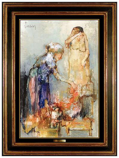Jean Jansem, 'Jean JANSEM Original Painting Oil On Canvas Signed Female Portrait Framed Art', 21st Century