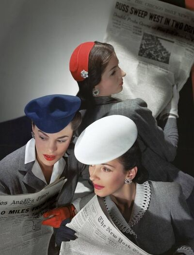 Horst P. Horst, 'Hats by Best, Lord and Taylor and Mme Pauline, Gloves by Dawnelle, 1943', 1943