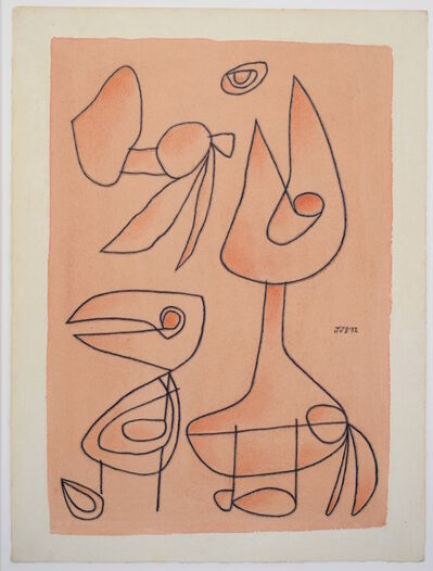 Jan Schoonhoven, 'Domme Vogels', 1952