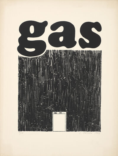Ed Ruscha, 'Gas', 1962