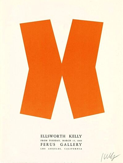 Ellsworth Kelly, 'Ellsworth Kelly at Ferus Gallery (Hand Signed)', 1966