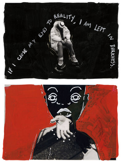 William Grob, 'Two works: (i) If I close my eyes to reality… (ii) A Fistful of Vomit (Where does your change go?)', 2015