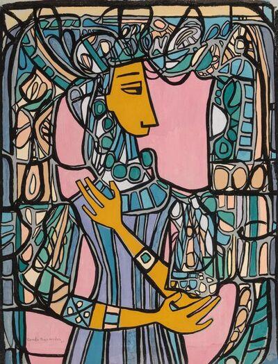 Cundo Bermúdez, 'Figura de Mujer con Vitral', 1968