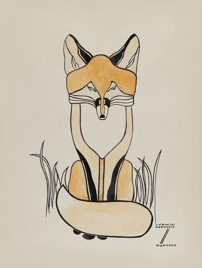 Ludwig Hohlwein, 'Fox', ca. 1900