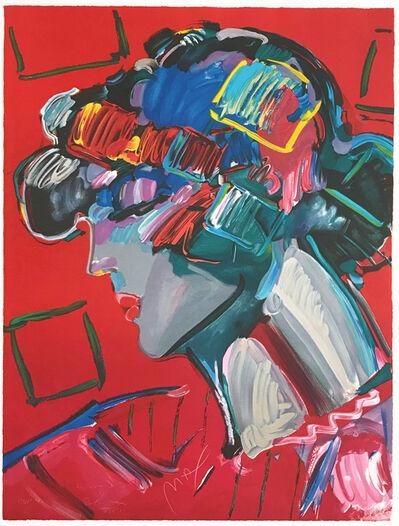 Peter Max, 'CRIMSON LADY', 1987